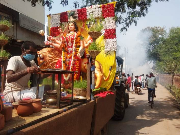 Durga idols were immersed-
