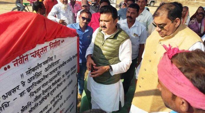लाखों के विकास कार्यों का संसदीय सचिव ने किया भूमिपूजन व लोकार्पण