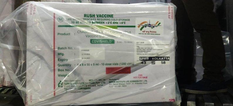 पुणे एयरपोर्ट से देश के विभिन्न स्थानों पर वैक्सीन की खुराक भेजी गई