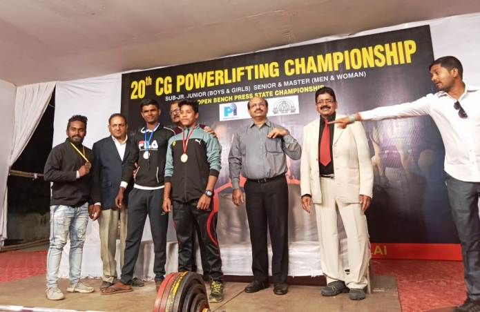 बागबाहरा के 5 खिलाड़ियों ने पावर लिफ्टिंग प्रतियोगिता में जीते गोल्ड मेडल