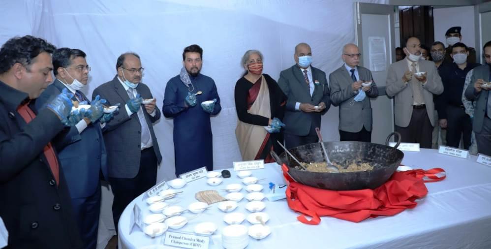 केंद्रीय बजट 2021-22 बनाने के पूर्व हलवा समारोह किया गया आयोजित