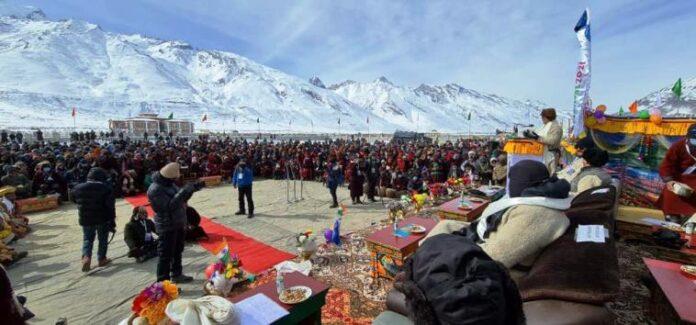 लद्दाख में खेलो इंडिया शीत कालीन खेलों में शामिल हुए केंदीय खेल मंत्री रिजिजू