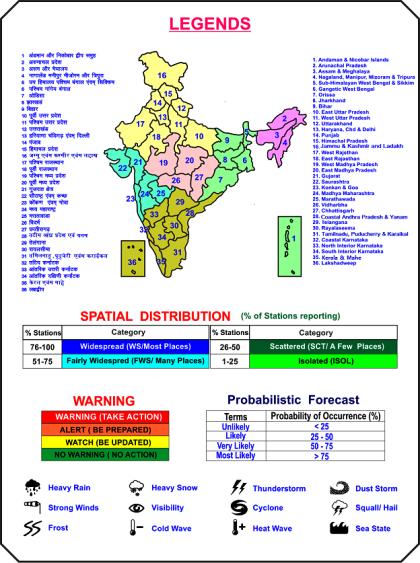 उत्तर-पश्चिम भारत में छिटपुट स्थानों पर आंधी, बिजली ओलावृष्टि तथा वर्षा का अंदेशा