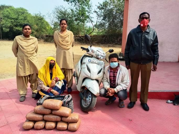 11 किलो अवैध मादक पदार्थ गांजा की तस्करी करते हुए पति-पत्नि गिरफ्तार