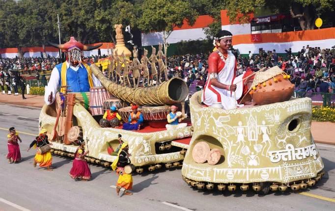 छत्तीसगढ़ के वाद्य यंत्रों का जादू नई दिल्ली के राजपथ पर छाया