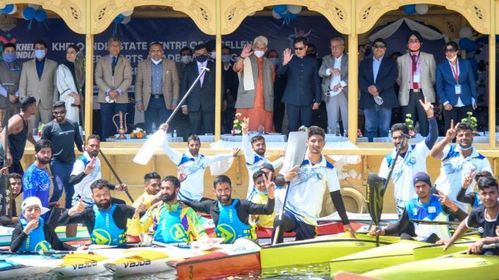 श्रीनगर में नौकायन के लिए खेलो इंडिया स्टेट सेंटर फॉर एक्सिलेंस का हुआ उद्घाटन