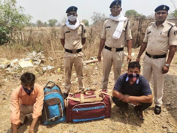 24 किलो ग्राम अवैध मादक पदार्थ गांजा के साथ दो लोग को पुलिस ने किया गिरफ्तार