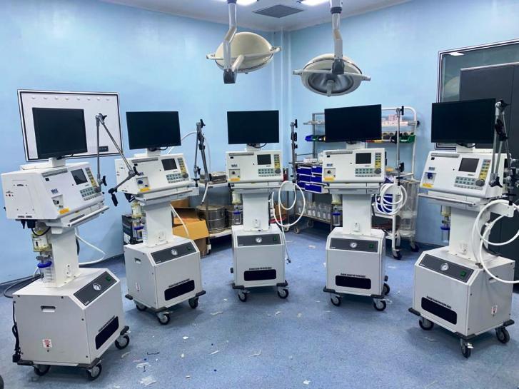 कोविड केयर हॉस्पिटल में हुआ सुविधाओं का विस्तार,लगे 10 नये वेंटिलेटर मशीन