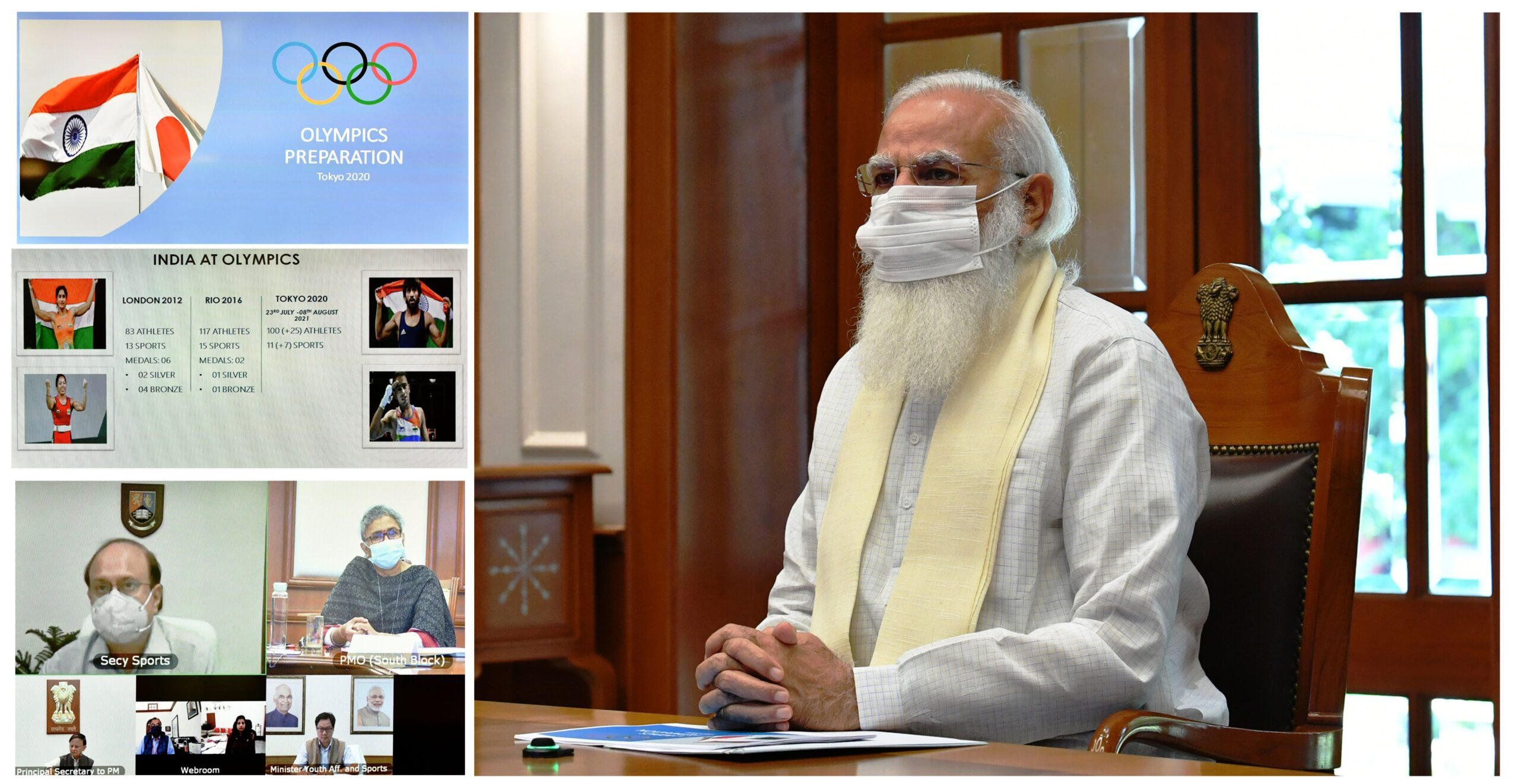 PM ने ओलंपिक की तैयारियों की समीक्षा के लिए बैठक की अध्यक्षता की