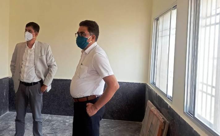डीजे एवं कलेक्टर ने किया निर्माणाधीन ज्यूडिशियल आवासीय कॉलोनी का निरीक्षण