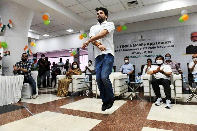 Fit India Mobile App का शुभारंभ किया खेल मंत्री अनुराग सिंह ठाकुर ने