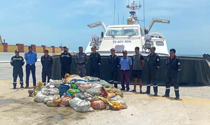 8 करोड़ रुपये का प्रतिबंधित समुद्री खीरा को पकड़ा भारतीय तटरक्षक बल ने