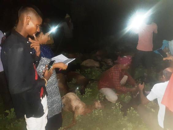 आकाशीय बिजली गिरने से 47 बकरीयो की मौत,मौक़े पर पहुँचे विभाग के अधिकारी