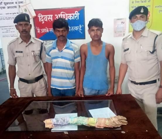 सांई मन्दिर में दान पेटी से चोरी हुए रकम के साथ दो आरोपी पुलिस के गिरफ्त में